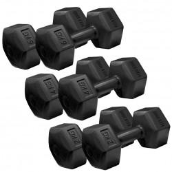 Iron Gym Fixed Hex Dumbbell Hantel Set (Non-Roll Design) von 2kg bis 6 kg